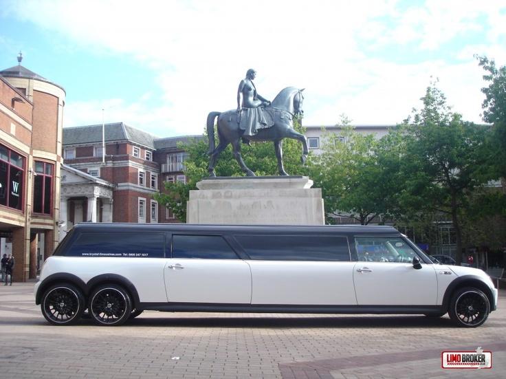 Mini Cooper Limousine. pictured in Broadgate, Coventry