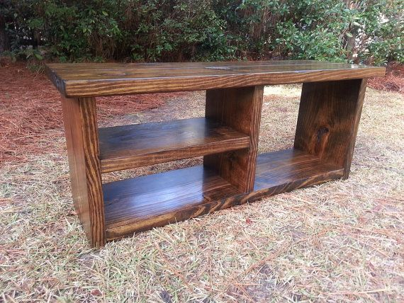Foyer Boot Bench : Rustic boot bench with shoe rack and storage cubby