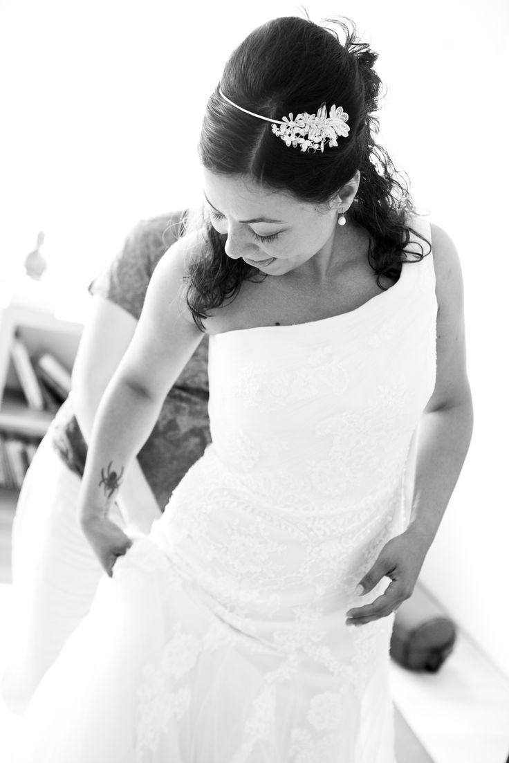 Bridal Flower Tiara in sterling silver filigree