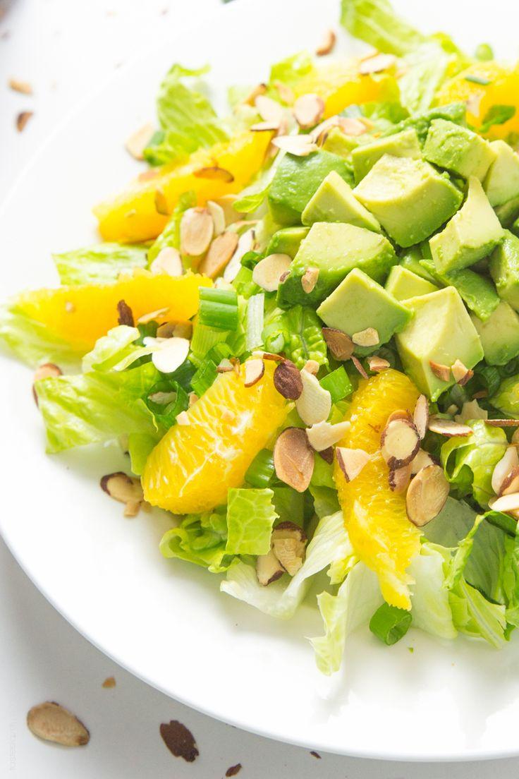Orange Almond Salad with Avocado ♡