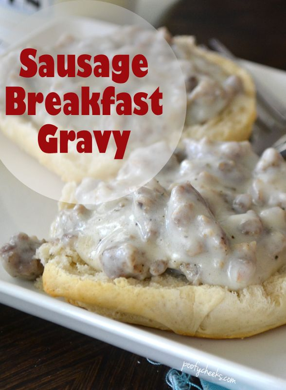 Easy Breakfast Sausage Gravy Recipe - surprise your family with breakfast! #breakfast