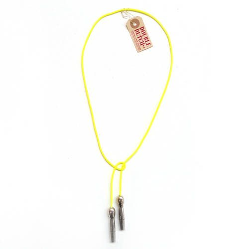 Parliament of two** | Skipping rope necklace (yellow) | Brenda May Gallery Sydney