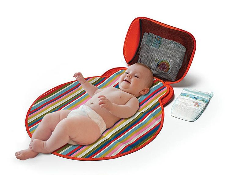 Must have for Mums!! Baby change time will be made even easier with this awesome BUILT Changing Pad.  Made from lightweight and gorgeous brightly coloured neoprene (wet suit material). It is durable yet very stylish.   With plenty of pockets it has plenty of room to store everything you need. The pocket is perfect for storing wipes and nappies. It easily folds up and secures with a zip.
