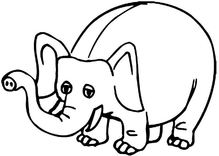 Coloring Elephant Image, Color Elephant, Fine Art ,Draw Big Elephant