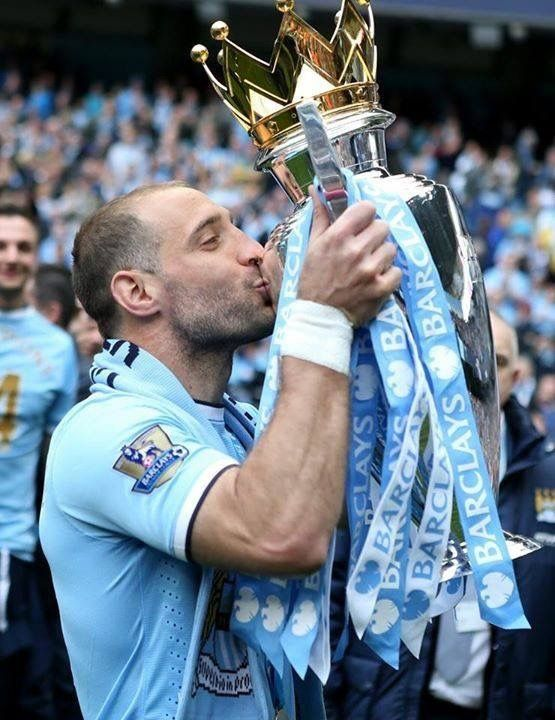 "9 Years 322 Apps League Titles FA Cup League Cups THANK YOU PABLO ZABALETA!! ""Oooh Pablo Zabaleta, he is the f***ing man! He is an Argentinian, he's harder than Jaap Stam! He plays in blue and white for Guardiola's men! And when we win the league we'll sing this song again!!"""