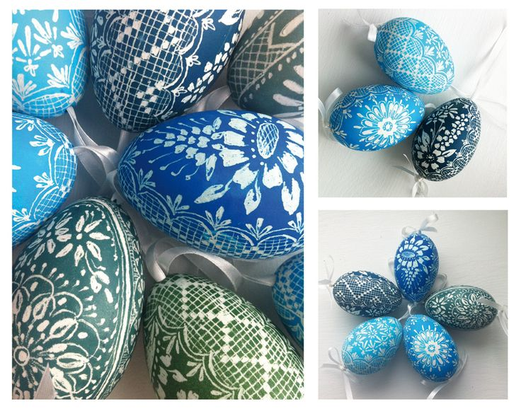 Pisanki - eggs decorated by scratching in Poland by folk artist from Ełk.