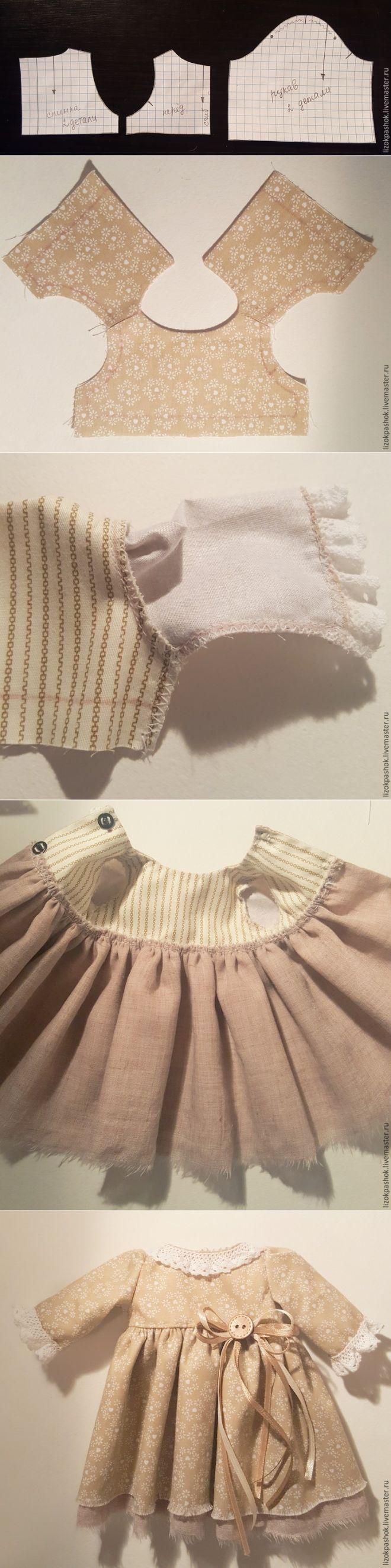 Шьем пасхальную зайку в стиле тильда. Часть 3: платье - Ярмарка Мастеров - ручная работа, handmade