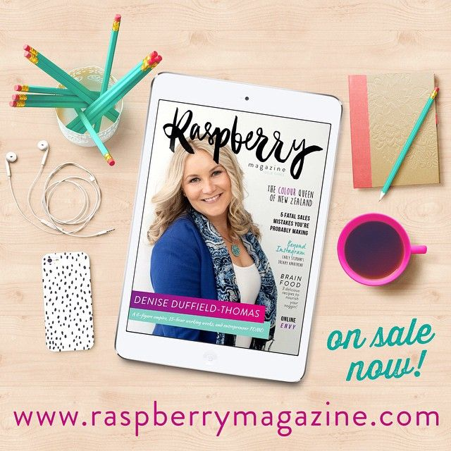 Issue Three of #RaspberryMagazine is out now with Denise Duffield-Thomas on the cover! >> raspberrymagazine.com
