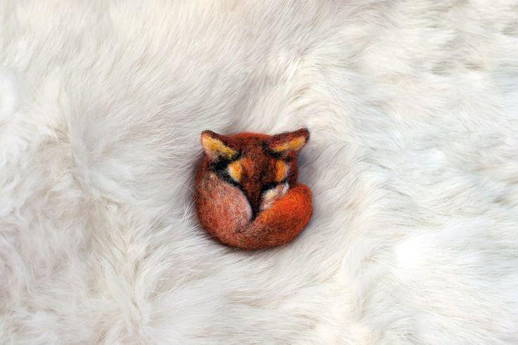 "Брошь из войлока «Лиса», бренд Тёрка\ Brooch of felt ""Fox"" brand Terka"