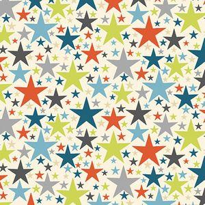 Makower UK - Little Monsters - Stars in Blue
