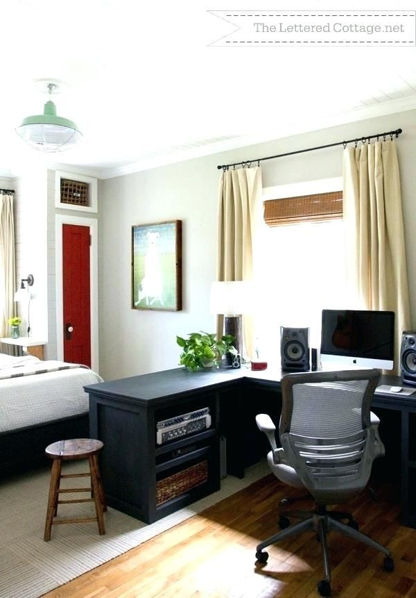 Ideas For Small Home Office Cool Home Office In Bedroom Small Bedroom Office Combo Ideas Office B Guest Bedroom Office Bedroom Office Combo Home Office Bedroom