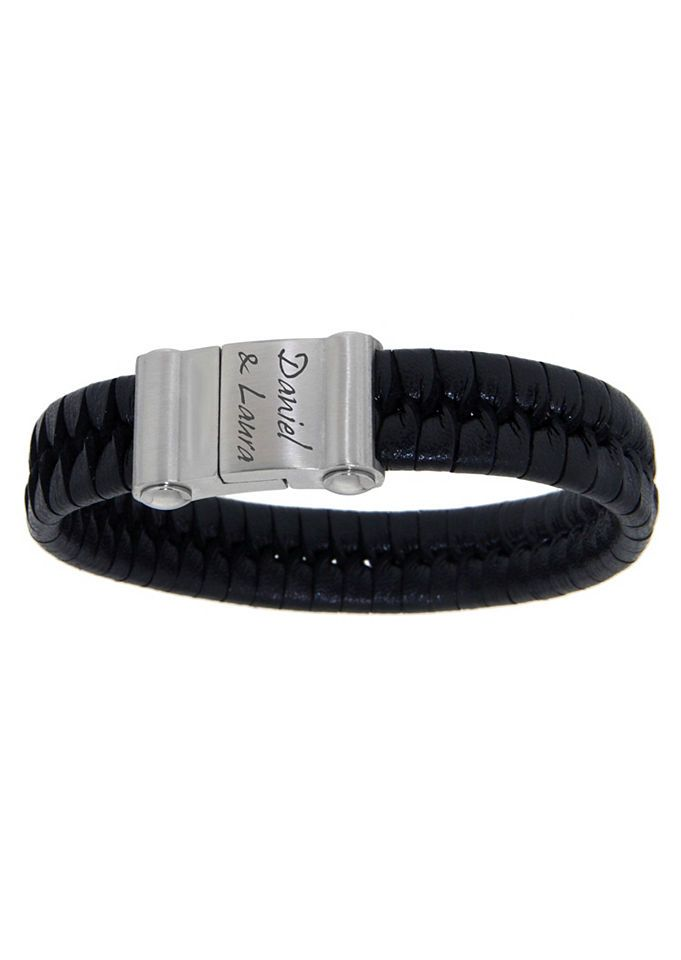 firetti Armschmuck: ID-Armband aus Leder, geflochten mit Magnetverschluß - gratis Gravur Jetzt bestellen unter: https://mode.ladendirekt.de/damen/schmuck/armbaender/sonstige-armbandaender/?uid=4c1d0797-1dc6-58d8-8a0c-a956de2b2624&utm_source=pinterest&utm_medium=pin&utm_campaign=boards #sonstigearmb #schmuck #armbaender #armschmuck #aender