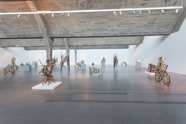 """Installation view of """"Beijing Voice: Song Dong Surplus Value"""" 2015 at Pace Beijing."""