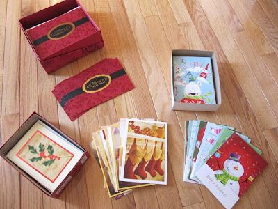 """Use your leftover cards or reuse cards you received by cutting them into postcards! USPS postcard size ~ is no less than 3 1/2 x 5"""" and no larger than 4 1/4"""" x 6"""" to have the postcard rate of 32 cents.   @ sewmanywasy.blogspot"""