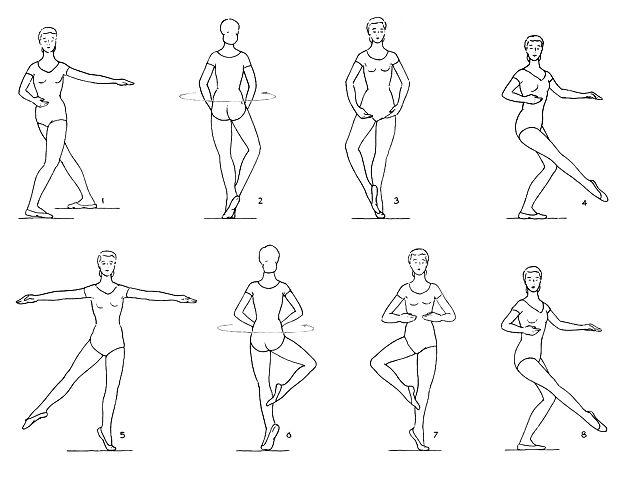 балетные движения с картинками готовую заготовку