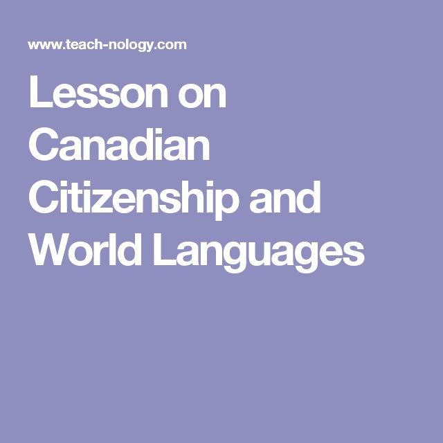 Lesson on Canadian Citizenship and World Languages