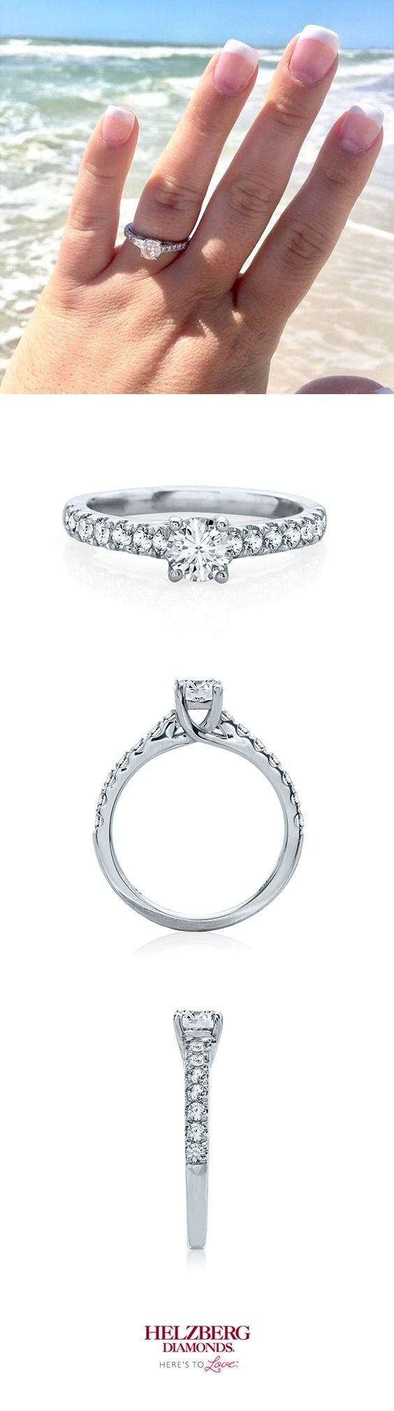 Helzberg Diamond Masterpiece® 1 Ct Tw Diamond Engagement Ring In 18k  White Gold
