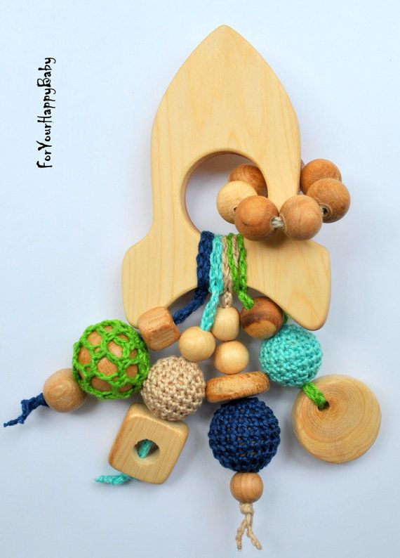 Juniper Rocket / Teething toy/ Wooden toy/ by ForYourHappyBaby