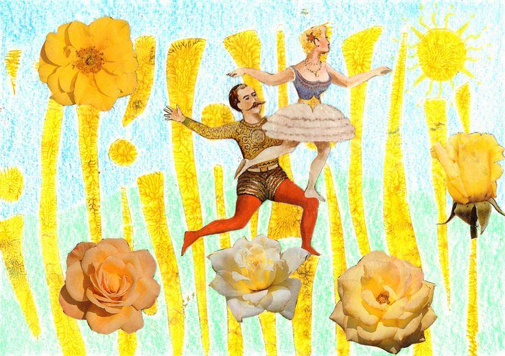 verjaarskaart gelli plate, sjabloon, kleurpotlood, collage