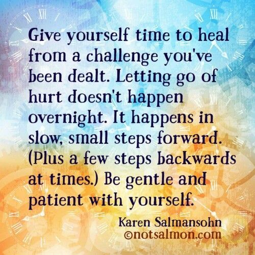 Healing takes time. A recovery from narcissistic sociopath relationship abuse