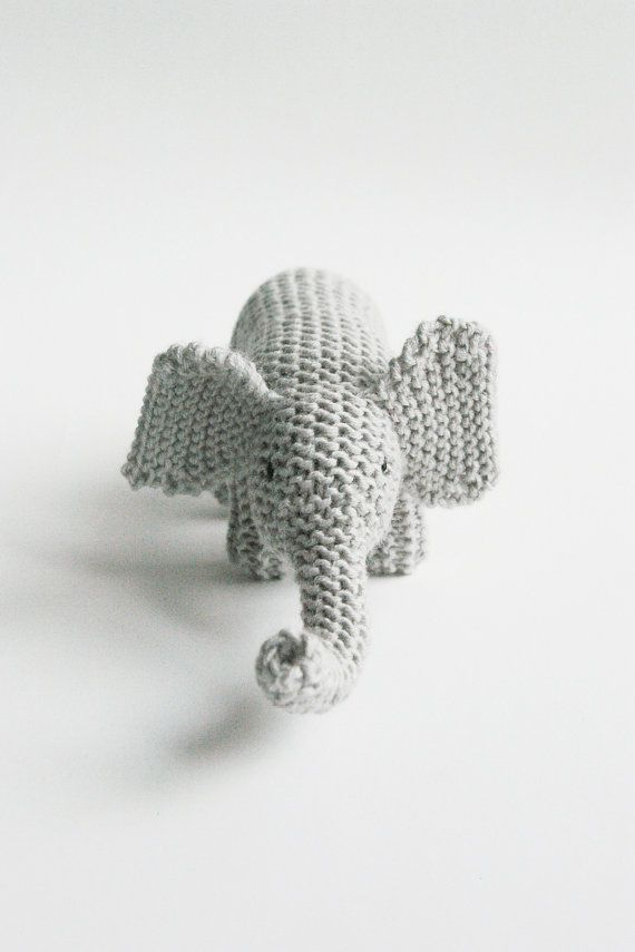 knitted toy MY FRIEND ELEPHANT / eco kids / baby or toddler gift / made to order (in 1 week)