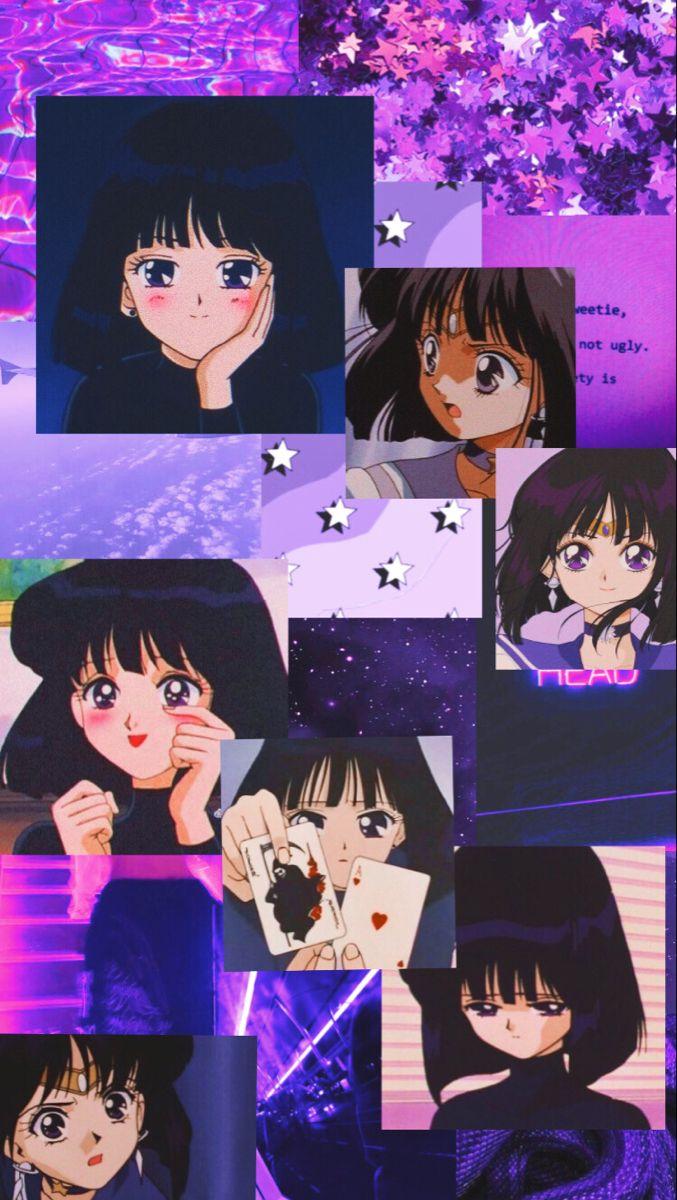 Aesthetic Sailor Saturn Wallpaper Sailor Saturn Anime Wallpaper Anime