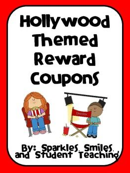 Easy management system for elementary age students! Fun coupons with a hollywood theme! $3.00