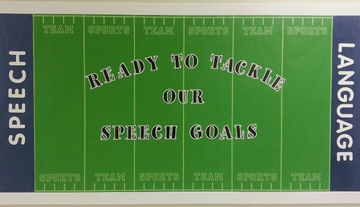 Football inspired bulletin board idea. #slpeeps #slp2b #backtoschool