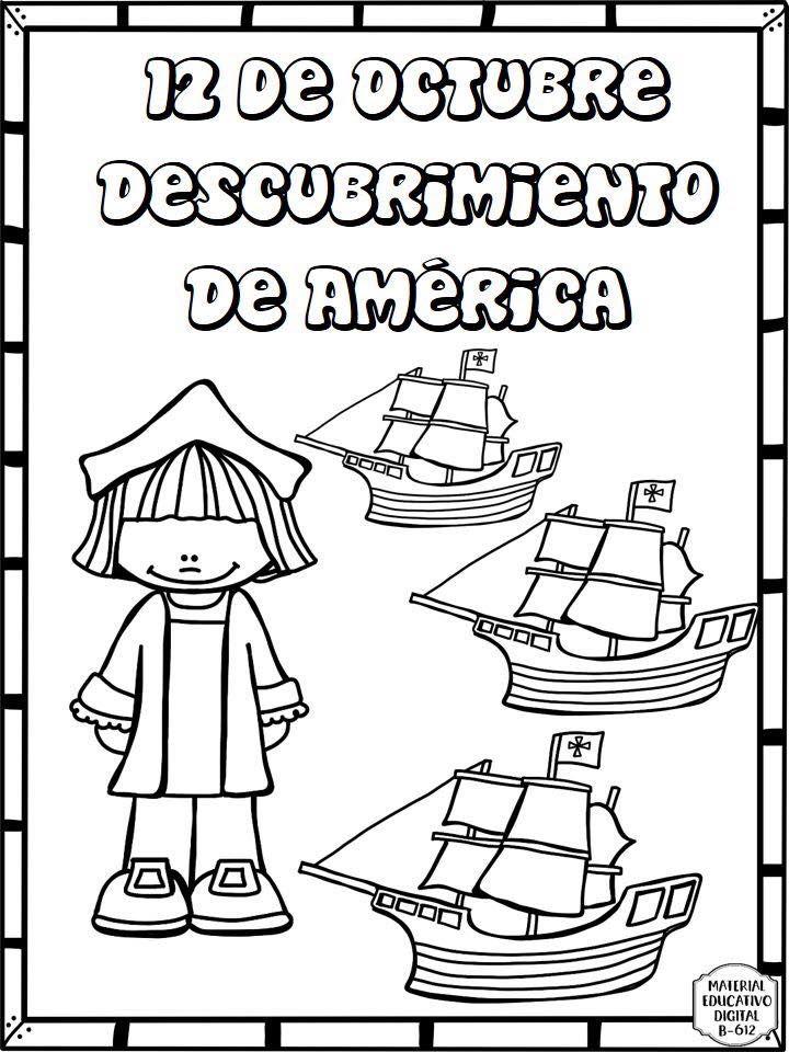 Espectacular Material Interactivo Sobre El Descubrimiento De America 12 De Oc Libros De Preescolar Cristobal Colon Para Ninos Actividades Didacticas Para Ninos