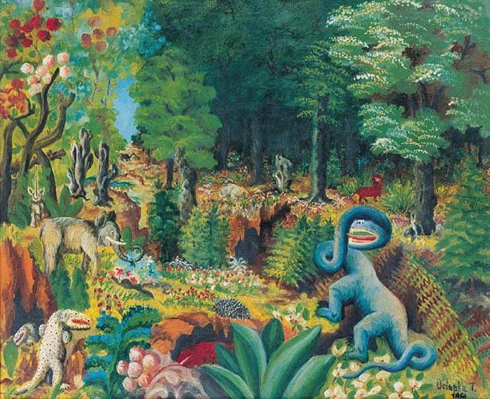 Teofil Ociepka-malarz samouk (prymitywista)
