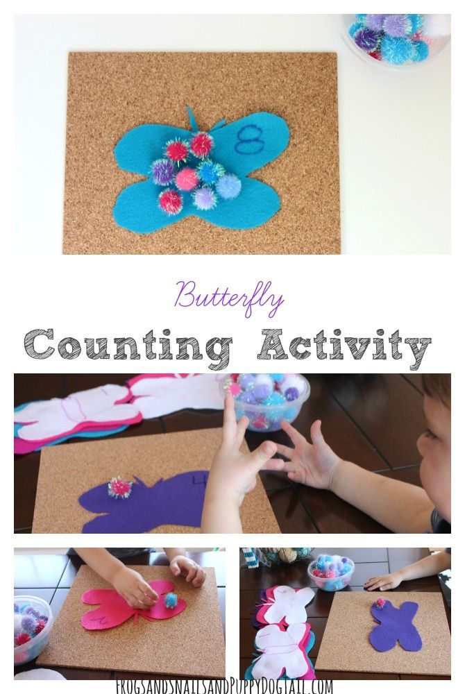 DIY Butterfly Counting Activity for Kids.  Easy to make  and fun for the kids.
