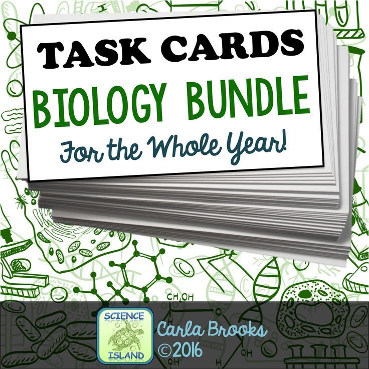 A growing bundle of Biology TASK CARDS for the year! Students love them!