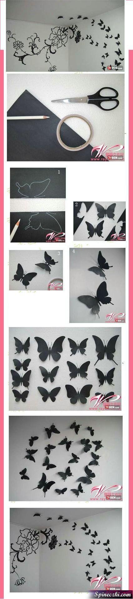 papillons découpés