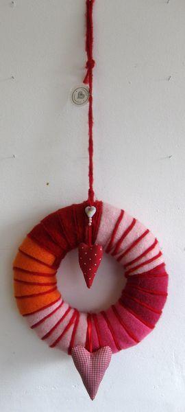 Türkränze - Türkranz in rot, rosa, pink, orange - ein Designerstück von kunstbedarf24 bei DaWanda