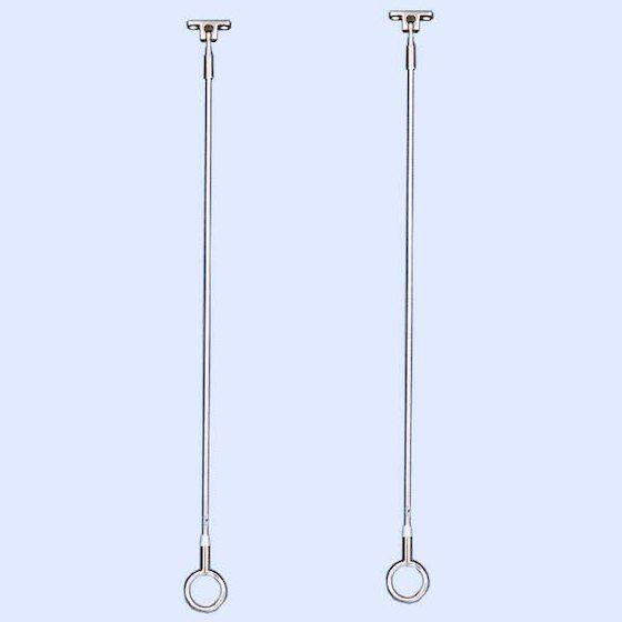 屋外ベランダ天井や浴室に設置できポールの取り外しもできる。物干し金物 SPO型【天井吊り下げ】【屋外】【浴室】【ステンレス】