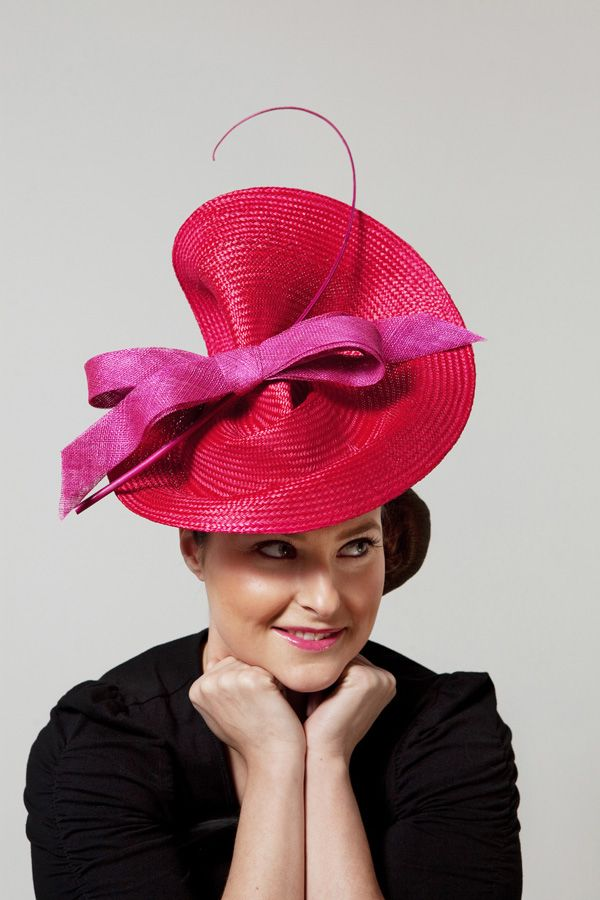 These are a great way to make a striking statement trackside. I love the pop of colour they can give an outfit. #millinery #judithm #hats----- Placemat!