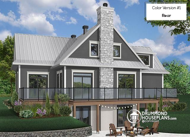 204 best plan de chalet dessins drummond plan de maison for Plan maison bungalow avec garage