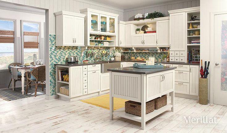 Merillat classic avenue w 5 piece drawer in maple for Merillat white kitchen cabinets