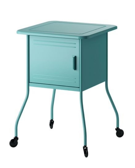 Add colour to your bedroom with our metallic turquoise VETTRE nightstand.