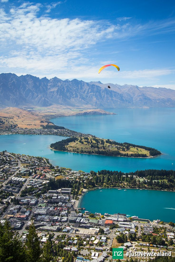 Paragliding from Bobs Peak! #Queenstown #nz #paragliding #adventure #fun #views