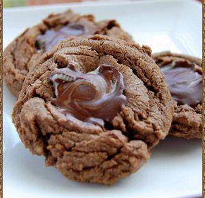 Czekoladowo - miętowe ciasteczka