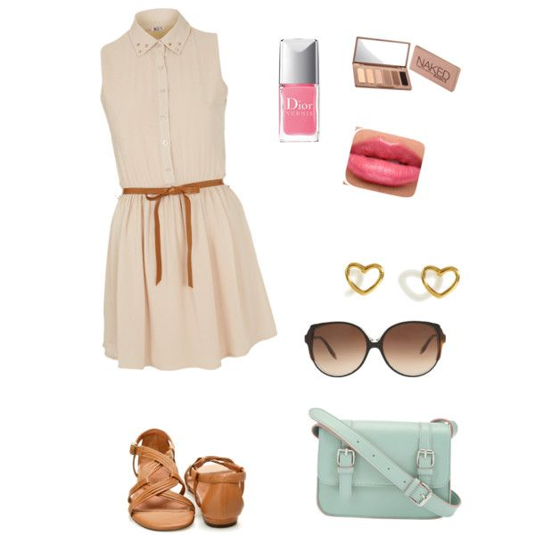 Pretty summer outfit! Love the shirt dress!