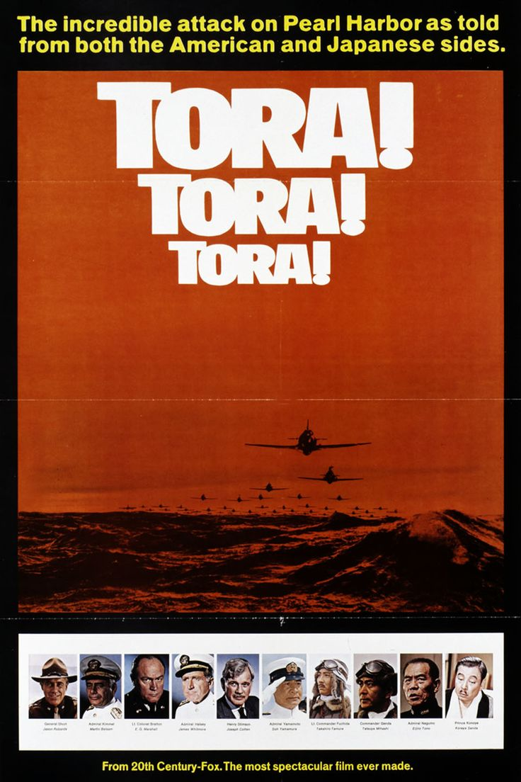 Tora! Tora! Tora! (1970). Tora! Tora! Tora! is the Japanese signal to attack – and the movie meticulously recreates the attack on Pearl Harbor and the events leading up to it. Opening scenes contrast the American and Japanese positions.