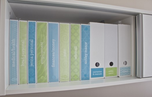 home binders planners filing systems and fun office