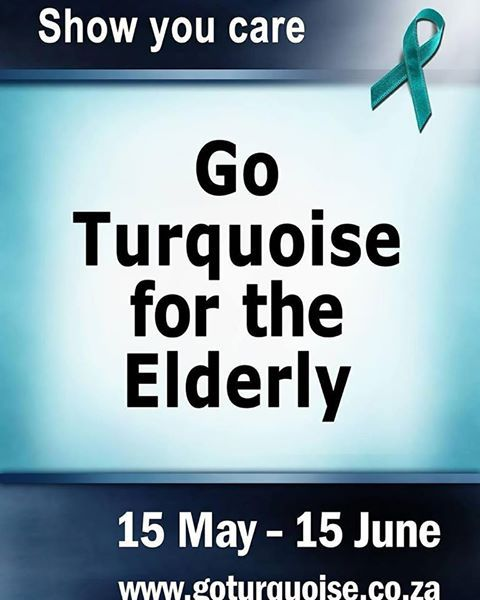 "From SA Health Dep. ""Show the #elderly that they are not forgotten"".  #oldercitizens #goturquoisefortheelderly"