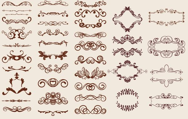 nice vintage graphics resource for DIY wedding invitations