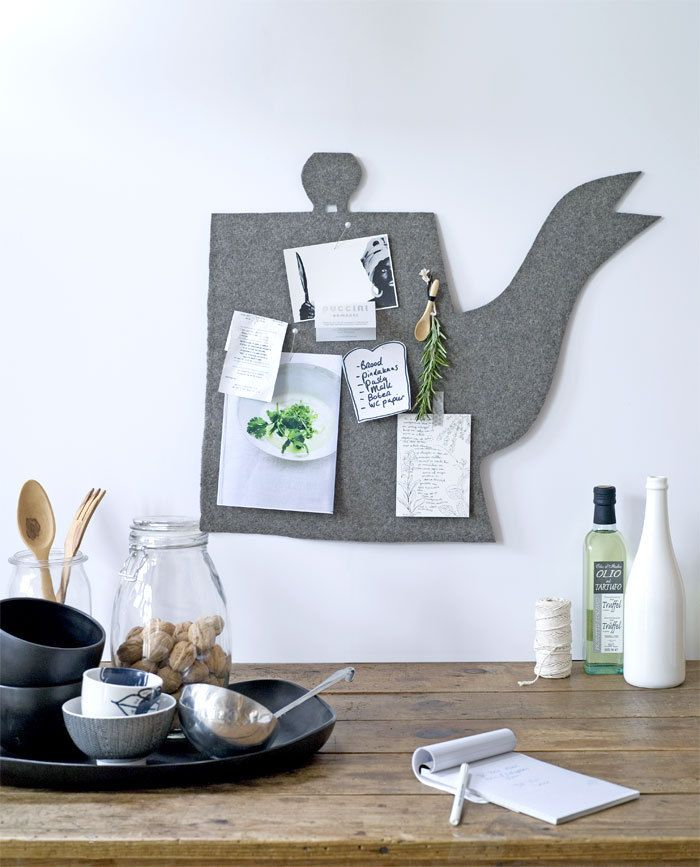 Easy to DIY: felt teapot (pinboard) #kitchen #wall #decoration