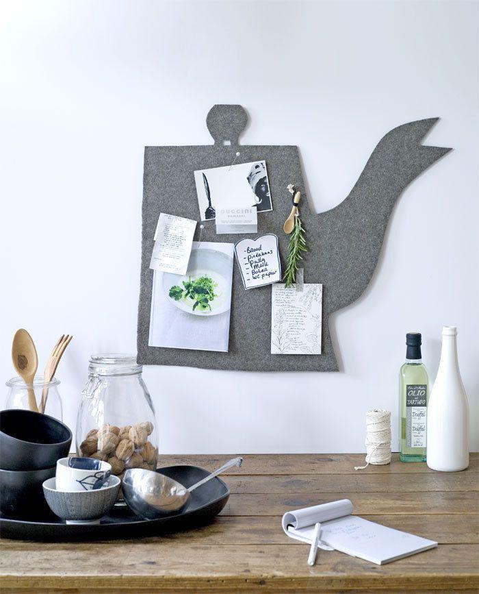 Easy to DIY: felt teapot (pinboard) #kitchen #wall #decoration