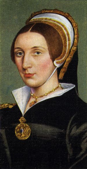 "Catherine Howard (c. 1518–1524 – 13 February 1542), Queen of England and the fifth wife of Henry VIII, known by his reference to her as his ""rose without a thorn"". He married her in 1540 and to my mind his divorce with Anne de Cleves was caused by Howard's family ambitions, moreover Catherine and Anna Boleyn were from one family and obeyed the same law. 17-year old girl became a victim of wills to get love for herself, a child for Henry, and power and treasures to Howards."