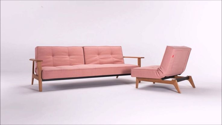 Design by Per Weiss & Oliver WeisKrogh. Splitback sofa bed with Frej arms and Splitback chair with Eik legs